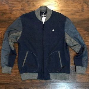 Staple Blue Gray White Mens Jacket Coat BNWT XL